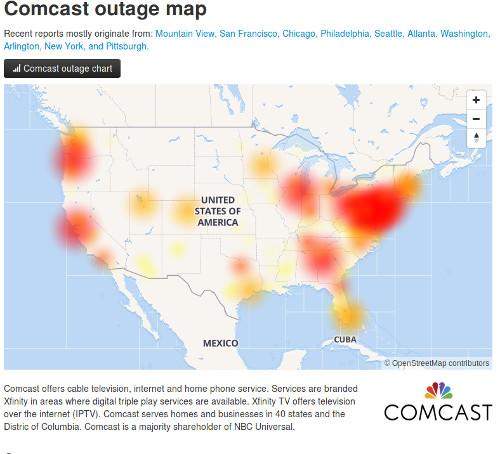 Comcast-Internet-Down-Map