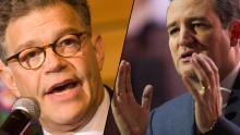 Franken vs Cruz